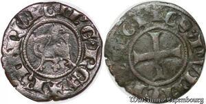 S6698 comté Charles I Anjou 1246 1285 Obole provencale coronat Jerusalem
