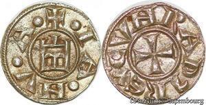 S6709 Italy Genova Republic 1139-1339 AR Denari Silver AU SUP