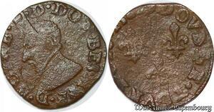 S6779 Dombes Principauté Francois II double tournois 3e type 1585 Trévoux